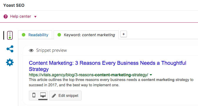 Yoast Content Marketing